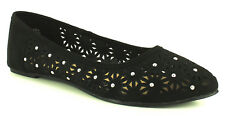 New Ladies/Womens Black Ballerina Shoes With Pointed Toe UK SIZES