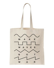 Make Waves Not War Synths Gear Head Unisex Tote Bag One Size