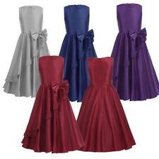 Flower Girl Kids Baby Bows Princess Dress Party Pageant Wedding Bridesmaid Gown
