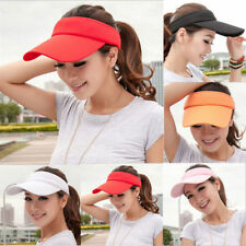 Women New Adjustable Plain Visor Outdoor Sun Cap Sport Golf Tennis Beach Hat e
