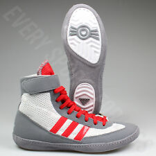 Adidas Combat Speed 4 Youth Wrestling Shoes AQ3267 - Grey / Red (NEW) Lists@$80