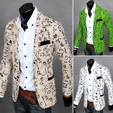 Stylish Men's Casual Slim Fit One Button Suit Blazer Coat Jacket Outwear New new