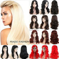 "Cheap Women Ladies Full Wig 19"" Straight Wavy Hair Party Cosplay Dress Wigs 5um"