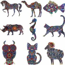 Print Pattern Pin Brooch Dragon Cat Animals Butterfly Women Jewelry Party Gift