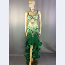 Womens beaded belly dance costume Halloween wear Christmas party dancing clothes