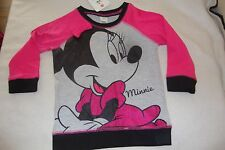 DISNEY MINNIE MOUSE  long sleeved tee shirt NWTS 18-24 months