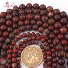 """4,6,8,10mm Round Natural Muil-Color Red Jasper Stone Beads Jewelry Making 15"""""""