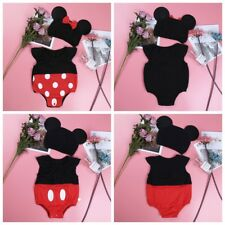 Infant Baby Boys Girls Mickey Mouse Baby Costume Cosplay Outfit Size 3-9 Months
