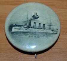 Circa 1910 Japanese Ship Training Captain Navy Celluloid Pin Pinback Hoegee Ca.