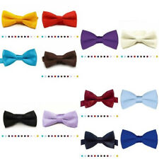 Classic Solid Color Banded Satin Pre-tied Tuxedo Bow-ties For Boy's