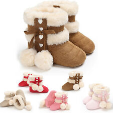 Winter Baby Infant Toddler Girl Snow Boots Crib Shoes Prewalker Sneakers 0-18M