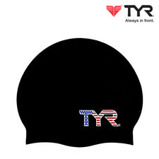 TYR United States Nation Flags Swim Cap Adult Unisex Silicone Swimming Hat