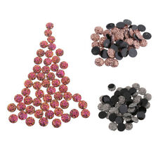 50pcs Flat Back Resin Cabochon Wedding Craft Glitter Gems 12mm for Scrapbooking