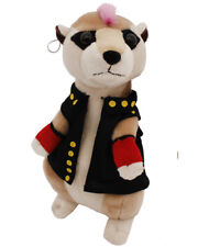 "PUNK MEERKAT SOFT TOY CHRISTMAS GIFT 13"" STUFFED ANIMAL TEDDY BEAR CUTE CUDDLY"