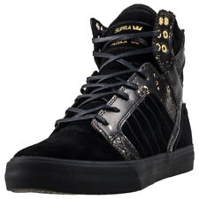 Supra Skytop Mens Trainers Black Gold New Shoes