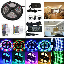 5M SMD 3528/5050/5630 300 LED Strip Lights Lamps Waterproof Remote Power Supply
