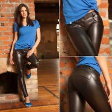 Sexy Women Leather Pants Footless Seamless Leggings Black New Fashion Skinny