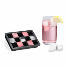 Ice Cube Tray Silicon for 2.5 cm Cubes Ice Container Holder Black Square-Shaped