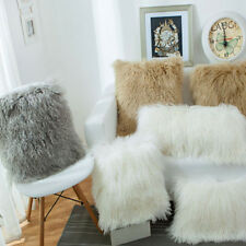 Home Decorative Super Soft Plush Mongolian Faux Fur Throw Pillow  Cushion Case