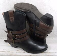 Pikolinos Womens Brujas Black Brown Leather Ankle Boots Shoes sz 6.5 M US 37 EU