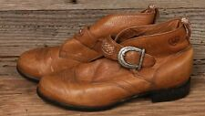 ARIAT WOMENS BROWN LEATHER BUCKLE STRAP WESTERN ANKLE BOOTIE BOOTS SZ 5.5
