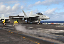 F-18 Hornet Carrier Launch - Plane Poster Print - Military Jet Photo - Wall Art