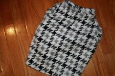 Hounds tooth fleece dog sweater/vest by angelpuppi