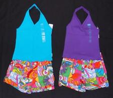 NEW Girls SIZE 4/5 OUTFITS Patchwork adj.waist Shorts &Tank Top Shirt