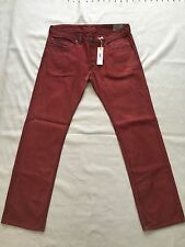 NWT Diesel Man Safado 0J824 Red Jeans Authentic Retail 228 USD