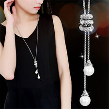 Simple Style Olivet Pendant Tassel Sweater Chain Long Alloy Necklace Hot Selling