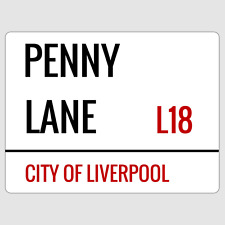 Penny Lane Liverpool Street Sign Plaque Aluminium