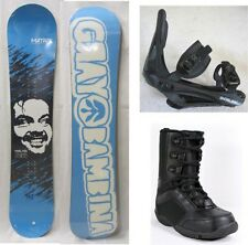 """NEW MATRIX """"MAD"""" SNOWBOARD, BINDINGS, BOOTS PACKAGE -145cm"""