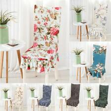 Removable Chair Covers Stretch Slipcovers Short Dining Room Stool Seat Cover