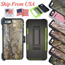 For Apple iPhone 6 6S Cover Case Protective Defender Camo Heavy Duty Belt Clip