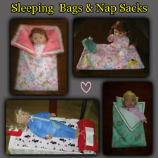 Doll SLEEPING BAGS or NAP MATS & PILLOW - Handmade by the Crafty Grandmas