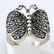 A1-R3031 Fashion Rhinestone Ring Butterfly 18KGP CZ Crystal Size 6-8