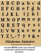 NEW-Oklahoma Alphabet STENCILS~Upper & Lowercase Letters DIY UPaint UPick