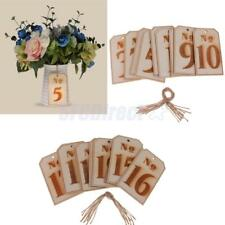 10pcs/Set Wooden Tag Table Numbers Wedding Centerpiece Table Decor No 1-20