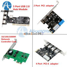 PCI/PCI-E Express 4Pin&20Pin USB 2/3.0 2/4/5 Ports Panel Controller Card Adapter