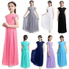 Flower Girls Long Maxi Dress Formal Pageant Party Wedding Bridesmaid Prom Gown