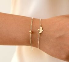 AMAZING TOP TRENDY Gold & Sliver Peace Dove Bracelet Birds Bracelet Little Cute