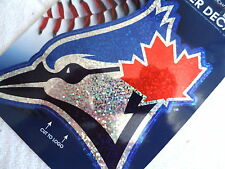 TORONTO BLUE JAYS OFFICIAL SHIMMER DECAL STICKER Baseball Canada NEW BIG 16cm