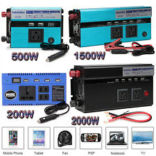 Car Power Inverter 2000W 1500W 500W 200W DC 12V to AC 110V USB Charger Converter