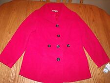 NWT Womens JM COLLECTION PEACOAT JACKET RED AMORE PLUS 1X WOMANS $109