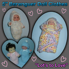 """Lots to Love"" BERENGUER 5"" Baby Doll & Clothes Handmade the Crafty Grandmas"