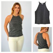 Womens Charcoal Silver Sparkly Strappy Party Top from Urban Outfitters
