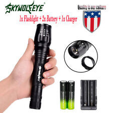 Tactical 20000Lumens 5-Mode XM-L T6 LED Flashlight Torch Light Zoomable 18650 Q