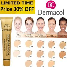 HYPOALLERGENIC LEGENDARY DERMACOL FILM STUDIO HIGH COVERING MAKE UP FOUNDATION!