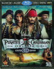 Pirates of the Caribbean: On Stranger Tides Blu-ray/DVD 5-Disc Set FREE SHIPPING