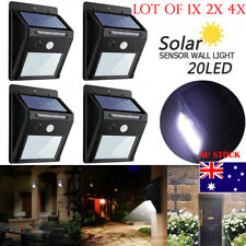 LEDs Solar Power PIR Motion Sensor Wall Light Waterproof Pathway Yark Post Lamp